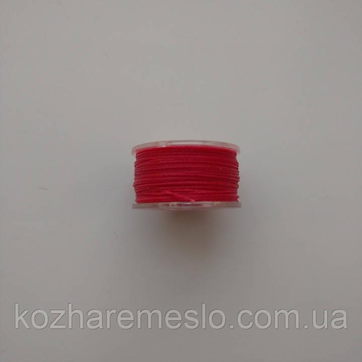 Нить вощёная 0,55 мм красная 10 метров