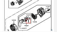 Щетки генератора 1800A193. MITSUBISHI