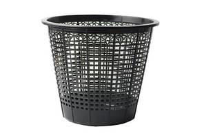 Корзина для бумаг Арника офисная 6,9л пластик черный (82091)