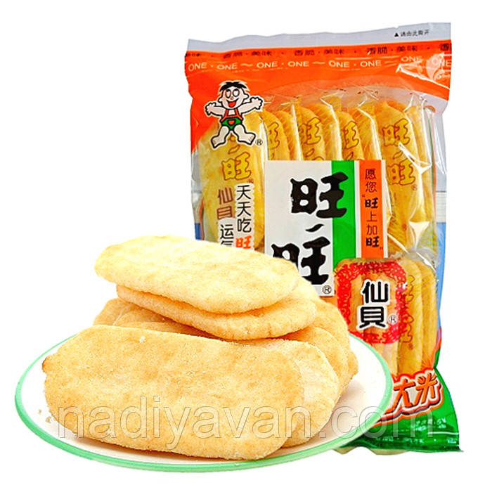 Want Want рисовое печенье 52g