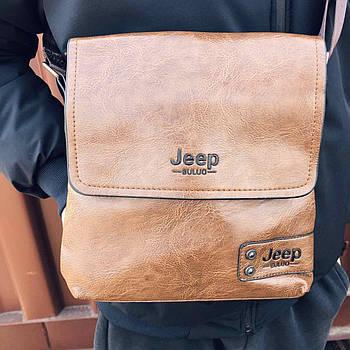 Мужская сумка Jeep Buluo Светло-коричневая