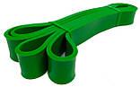 Резина для фитнеса 15-45 кг зеленая. Резиновый Эспандер для спорта, фото 3