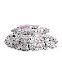 Постельное белье 100% хлопок/Детское постельное 150х210/Постельный комплект для девочки