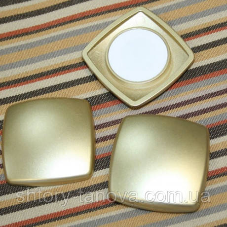Магнит металл квадрат золото 2 шт