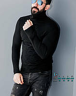 Модный черный свитшот с геометрическим рисунком под горло S