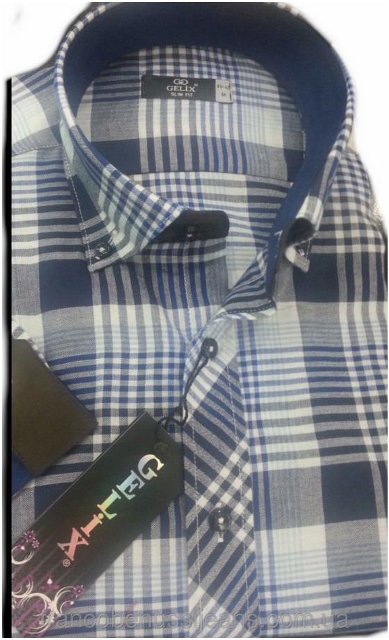 Рубашка мужская классик 982-01 с коротким руковом-Gelix