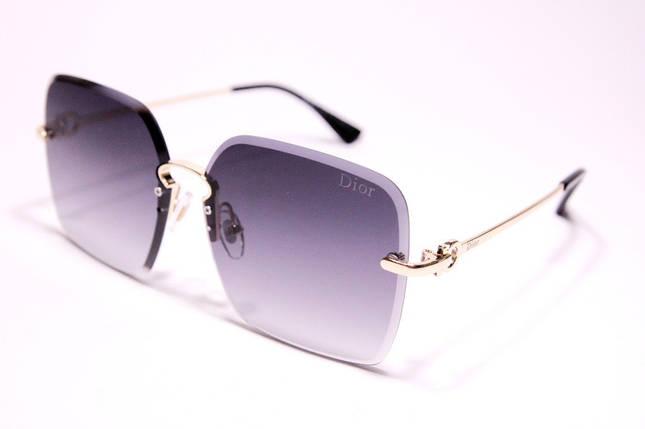 Жіночі сонцезахисні окуляри метелики Діор 5036 C1 репліка Чорні з градієнтом, фото 2