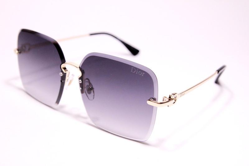 Жіночі сонцезахисні окуляри метелики Діор 5036 C1 репліка Чорні з градієнтом