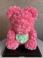 Мишка Теди С 3D роз.Милый Подарок Любимой!