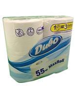 Бумага туалетная Диво 4 рулона 55 м (тп.дв55б)