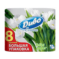 Бумага туалетная целлюлозная Диво Econom 8 рулона (тп.де.8б)
