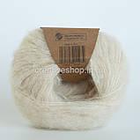 Пряжа Drops Brushed Alpaca Silk (цвет 01 off white), фото 2