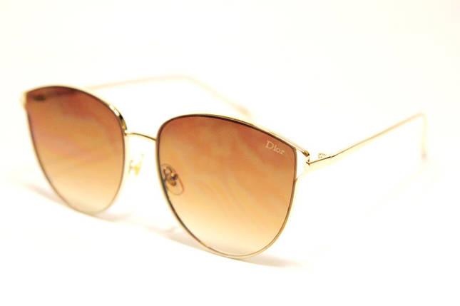 Жіночі сонцезахисні окуляри метелики Діор 5059 C2 репліка Коричневі з градієнтом, фото 2