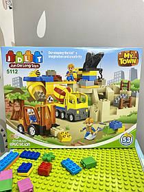 Конструктор JDLT 5112 Будмайданчик на 53 деталі аналог Lego Duplo