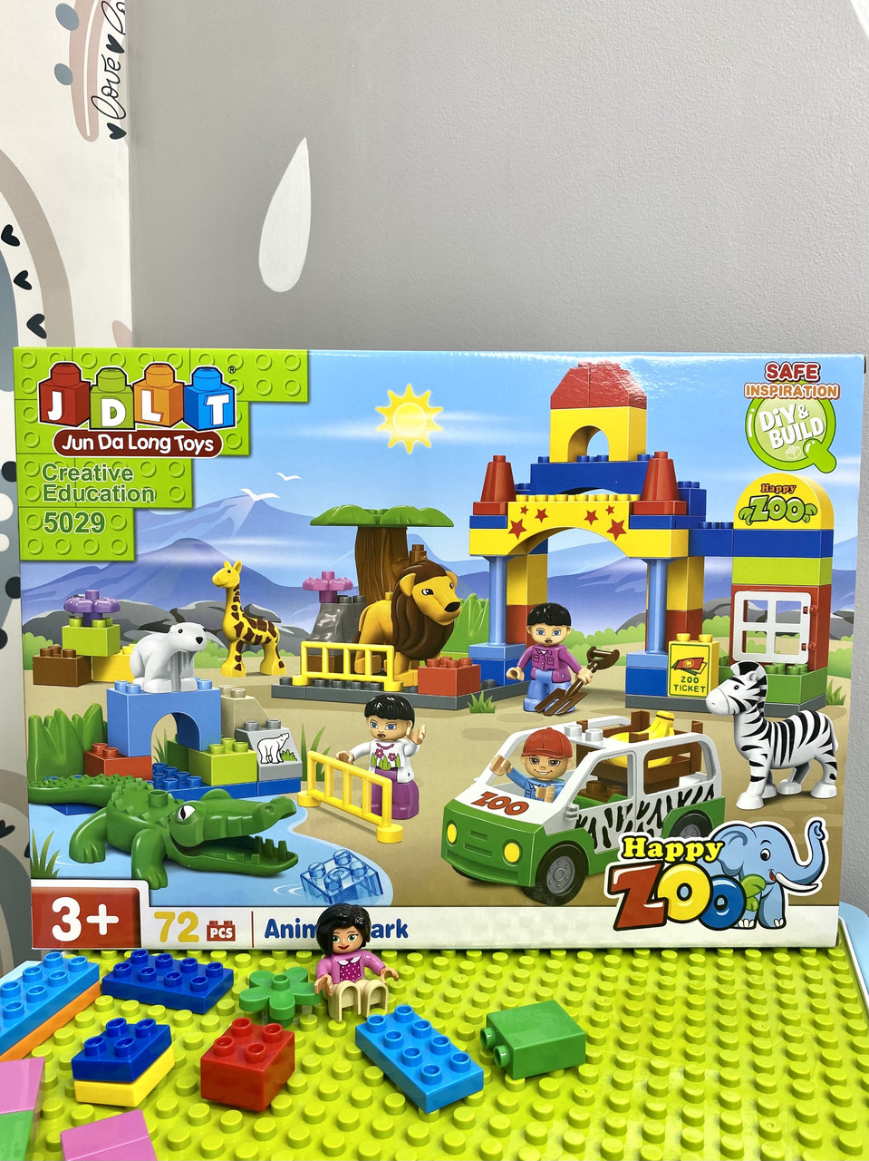 Конструктор JDLT 5029 Зоопарк на 72 детали аналог Lego Duplo