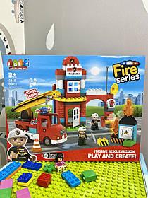 Конструктор JDLT 5418 Пожежна станція на 85 деталей
