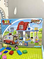 Конструктор JDLT 5173 Скорая помощь на 56 деталей аналог Lego Duplo