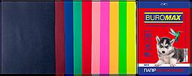 Набор цветной бумаги для печати 80г / м2, BUROMAX, DARK+NEON