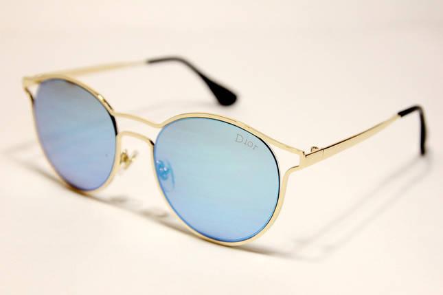 Жіночі сонцезахисні окуляри Діор 5399 C4 репліка Сині, фото 2