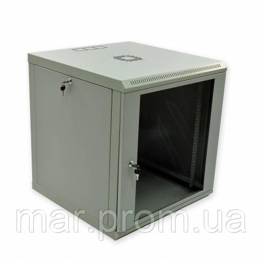 Шкаф 12U, 600x600x640мм (Ш * Г * В), эконом, акриловое стекло, серый