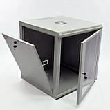 Шкаф 12U, 600x600x640мм (Ш * Г * В), эконом, акриловое стекло, серый, фото 2