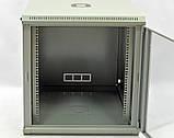 Шкаф 12U, 600x600x640мм (Ш * Г * В), эконом, акриловое стекло, серый, фото 6