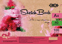 Альбом скетчбук пружина ZiBi ART Line 40 листов А4 100 г/м2 белый (ZB.1485)