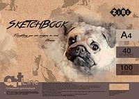 Альбом скетчбук пружина ZiBi ART Line 40 листов А4 100 г/м2 кремовый (ZB.1483)