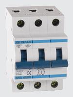 Автоматичний вимикач автомат 63 ампер Европа А трьохфазний трьохполюсний В B характеристика, фото 1