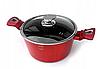 Набір посуду з мармуровим покриттям Bohmann BH 40 - Red/Black, фото 6