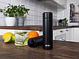 Smart термобутылка с дисплеем Noveen TB2310 Black Mat 480 мл, фото 5
