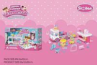 Автобус Магазин сладостей с куклой, съемный прилавок, аксессуары