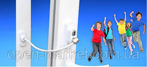 Захист від дітей, трос обмежувач відкривання вікна сірий, Туреччина, Пенкид сірий колір, PENKID, фото 2