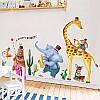 """Наклейка на стену в детскую, на шкаф """"животные музыканты"""" 95см*215см (2листа 60*90см), фото 6"""