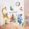 """Наклейка на стену в детскую, на шкаф """"животные музыканты"""" 95см*215см (2листа 60*90см), фото 4"""