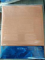 Простынь на резинке 180х240 см для матраса 140х200 см бежевая