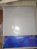 Простынь на резинке 180х240 см для матраса 140х200 см серый окрас