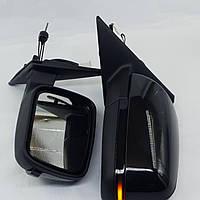 Зеркала на Ваз-2170 Приора с троссовой регулировкой и повторителем поворота Plazma