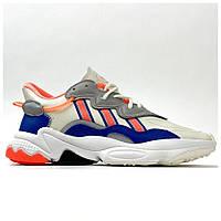 Мужские / женские кроссовки Adidas Ozweego Beige Orange Blue, разноцветные кроссовки адидас озвиго