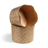 Форма для пасхи бумажная, форма для выпечки кулича 70х60 мм, 90 грамм (Италия), набор 50 шт