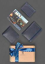 """Мужской подарочный набор кожаных аксессуаров """"Ливерпуль"""": портмоне, обложка на паспорт и визитница"""