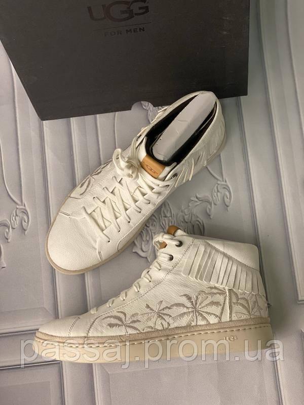 Белые мужские ботинки из натуральной кожи ugg оригинал 45-29.5 см