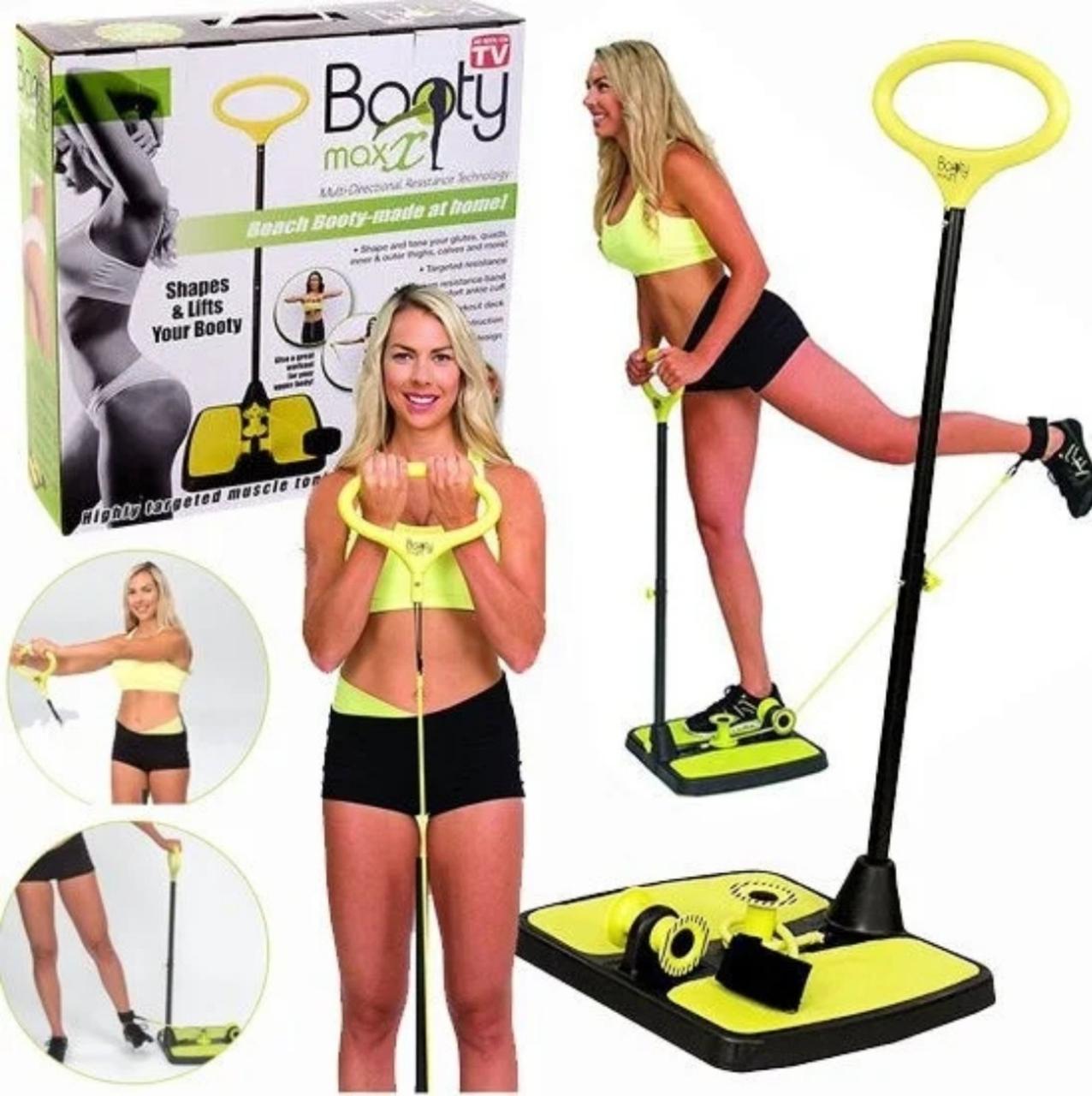 Фітнес тренажер для тіла Booty Max X (Тренажер для всього тіла з еспандером)