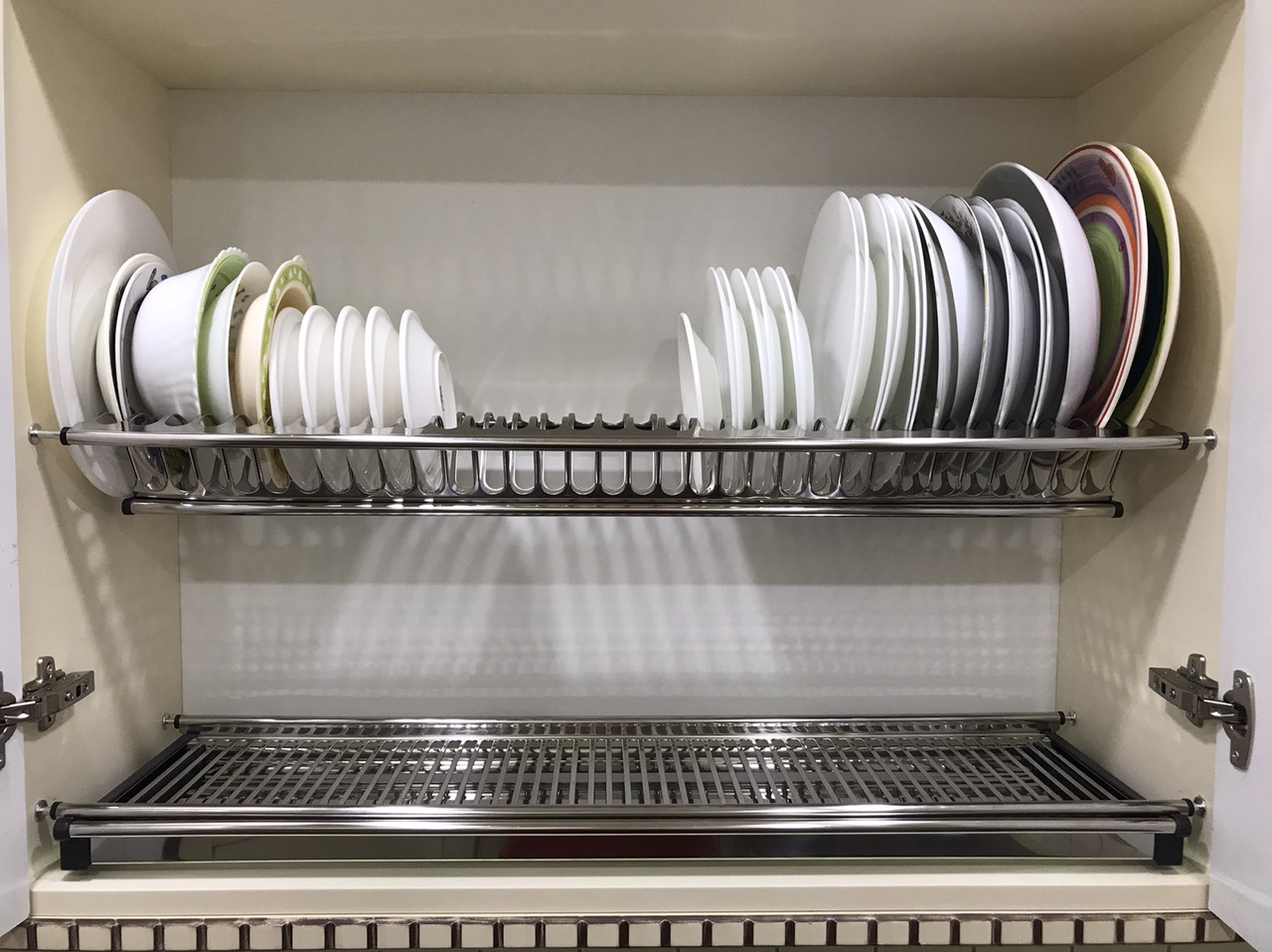 Сушарка для посуду у шафу з нержавіючої сталі 800
