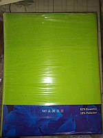 Простынь на резинке 220х240 см для матраса 180х200 см салатовая