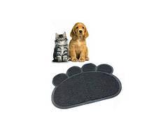 Коврик для домашних питомцев Paw Print Litter Mat GrayСпальные места для кошек и собак в Украине