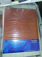 Простирадло на гумці 240х260 см коричнева (для матраца 200х220 см)