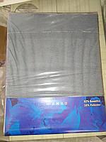 Простынь на резинке 240х260 см серая (для матраса 200х220 см)