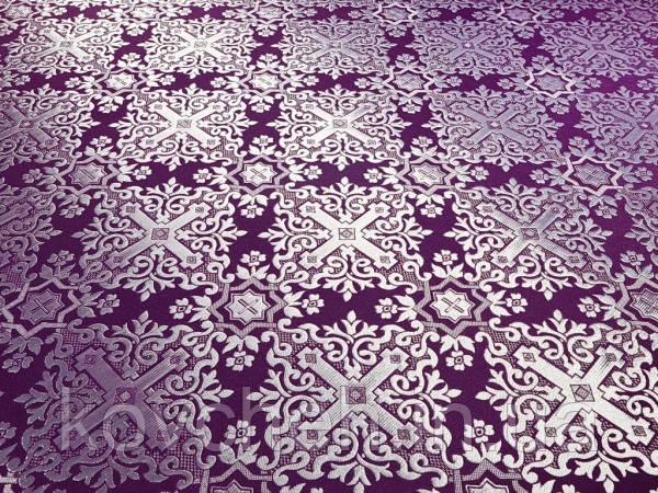"""Церковна тканина """"Нікомедія"""", фіолетовий з сріблом"""