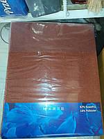 Простынь на резинке 240х260 см для матраса 200х220 см кирпичная